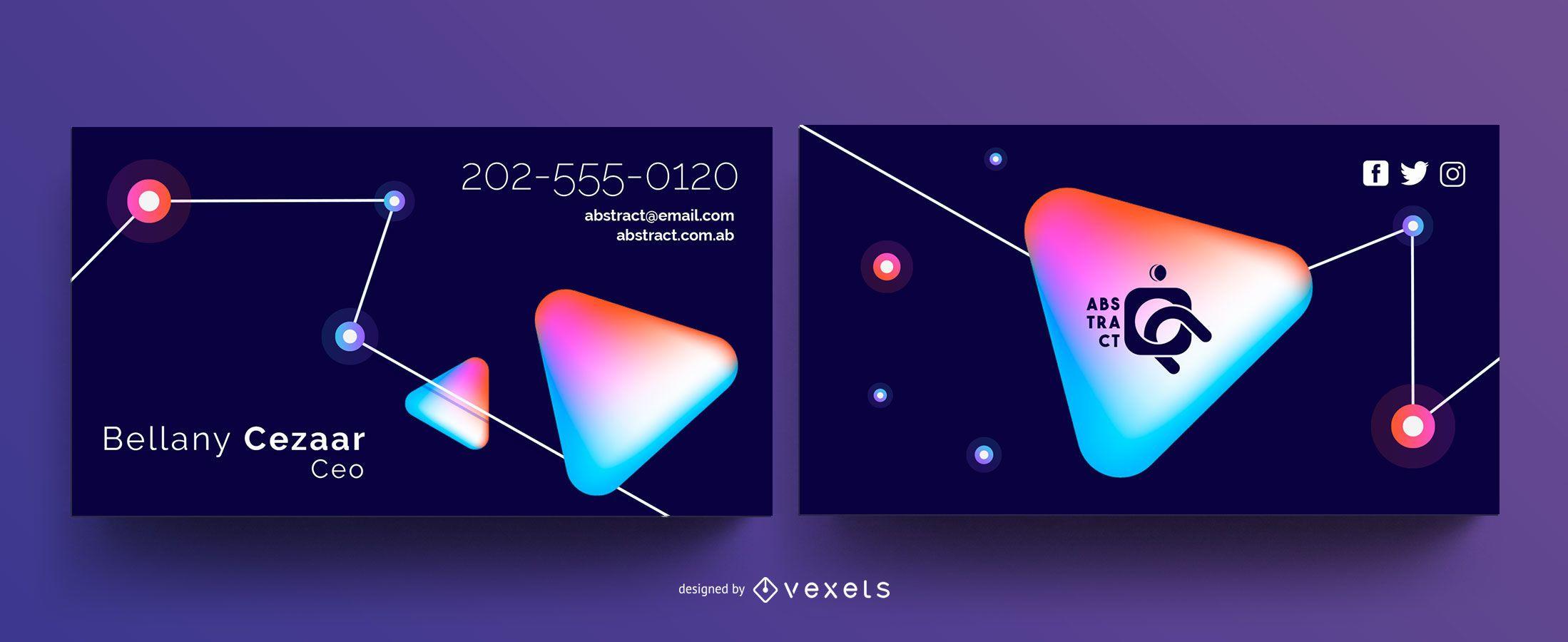 Plantilla de tarjeta de visita de tecnología abstracta