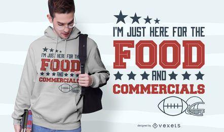 Design de t-shirt de citações de futebol