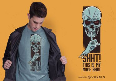 Design de camiseta do filme Skull
