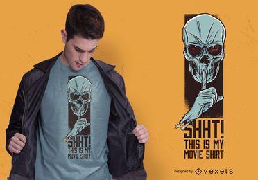Design de t-shirt de filme de crânio