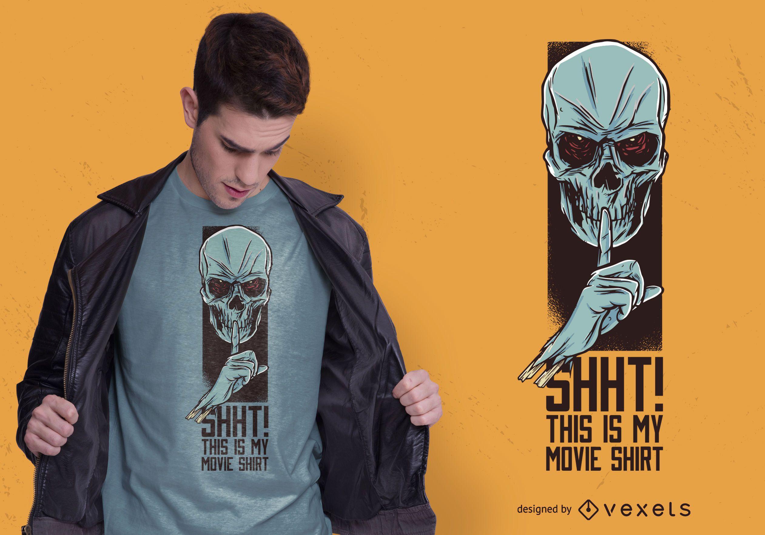 Design de camiseta do filme Skull