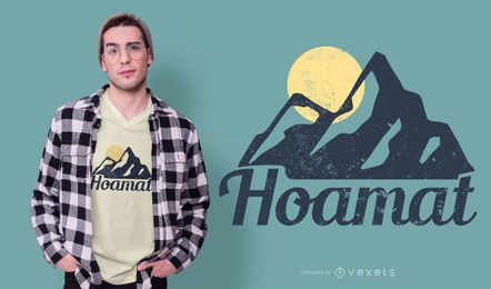 Diseño de camiseta Home Mountain German
