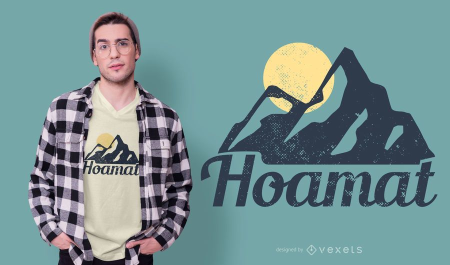 Home Mountain German T-shirt Design