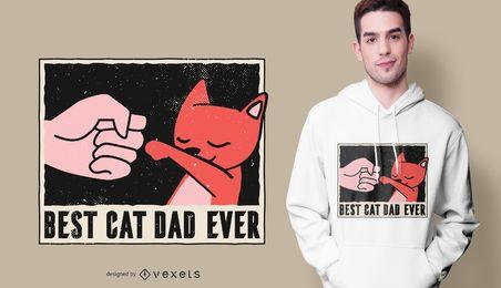 O melhor design do t-shirt do pai do gato nunca