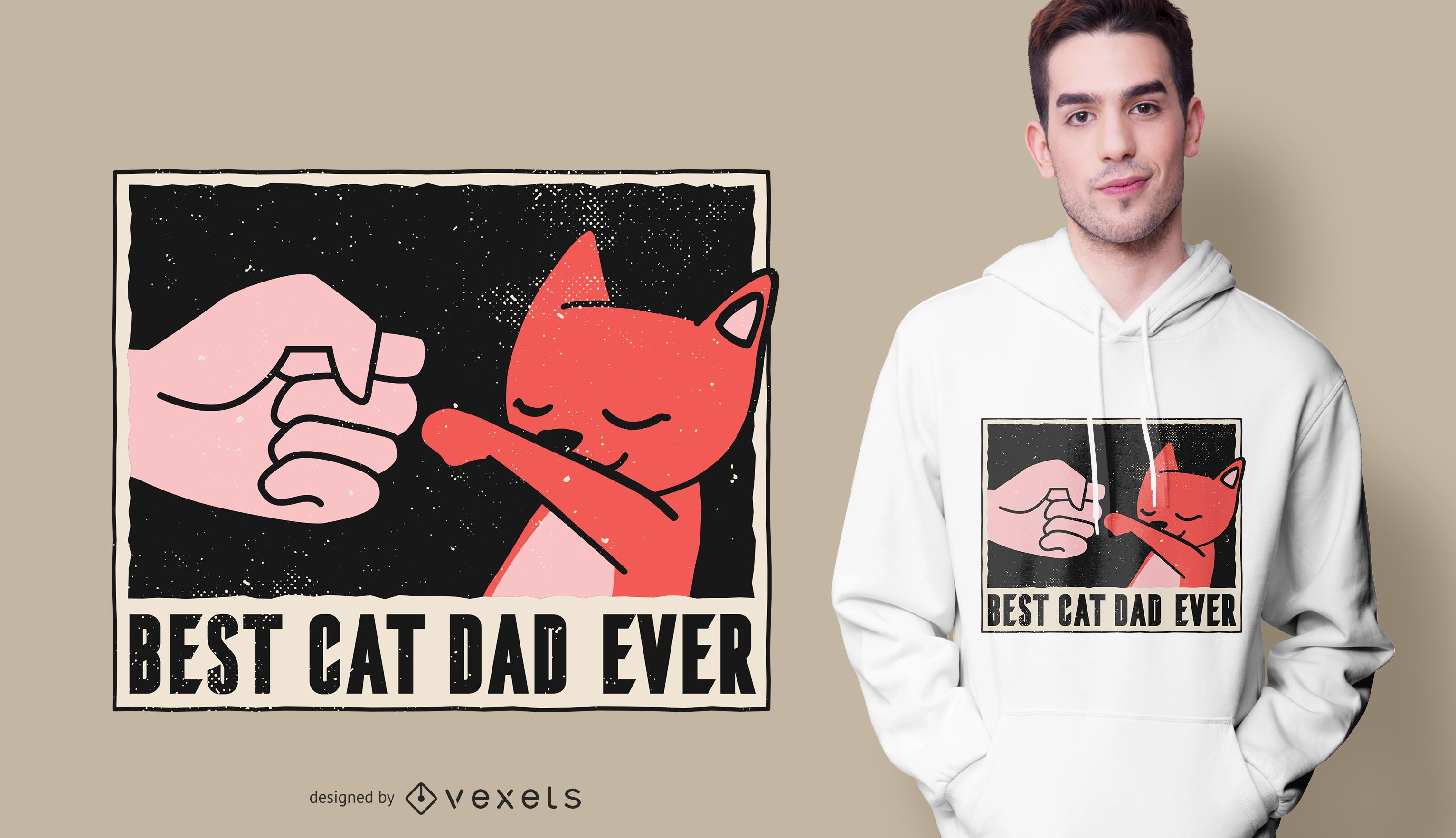 El mejor diseño de camiseta de Cat Dad Ever