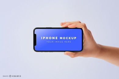 Hand die iphone Modell hält