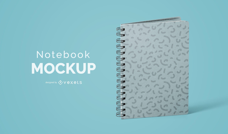 Diseño psd de maqueta de cuaderno