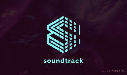 Diseño de logotipo de banda sonora de música