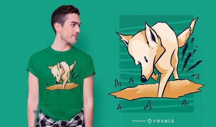 Digging Dog T-shirt Design