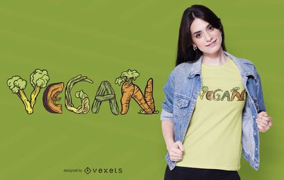 Vegan Vegetables T-shirt Design