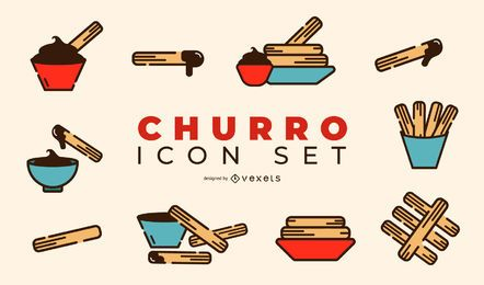 Churro Design Icon Set