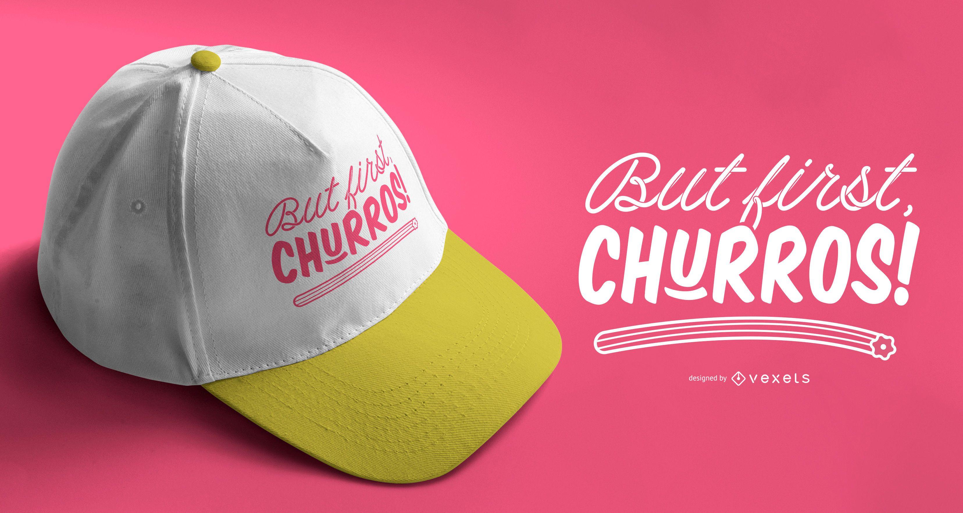 First churros lettering design