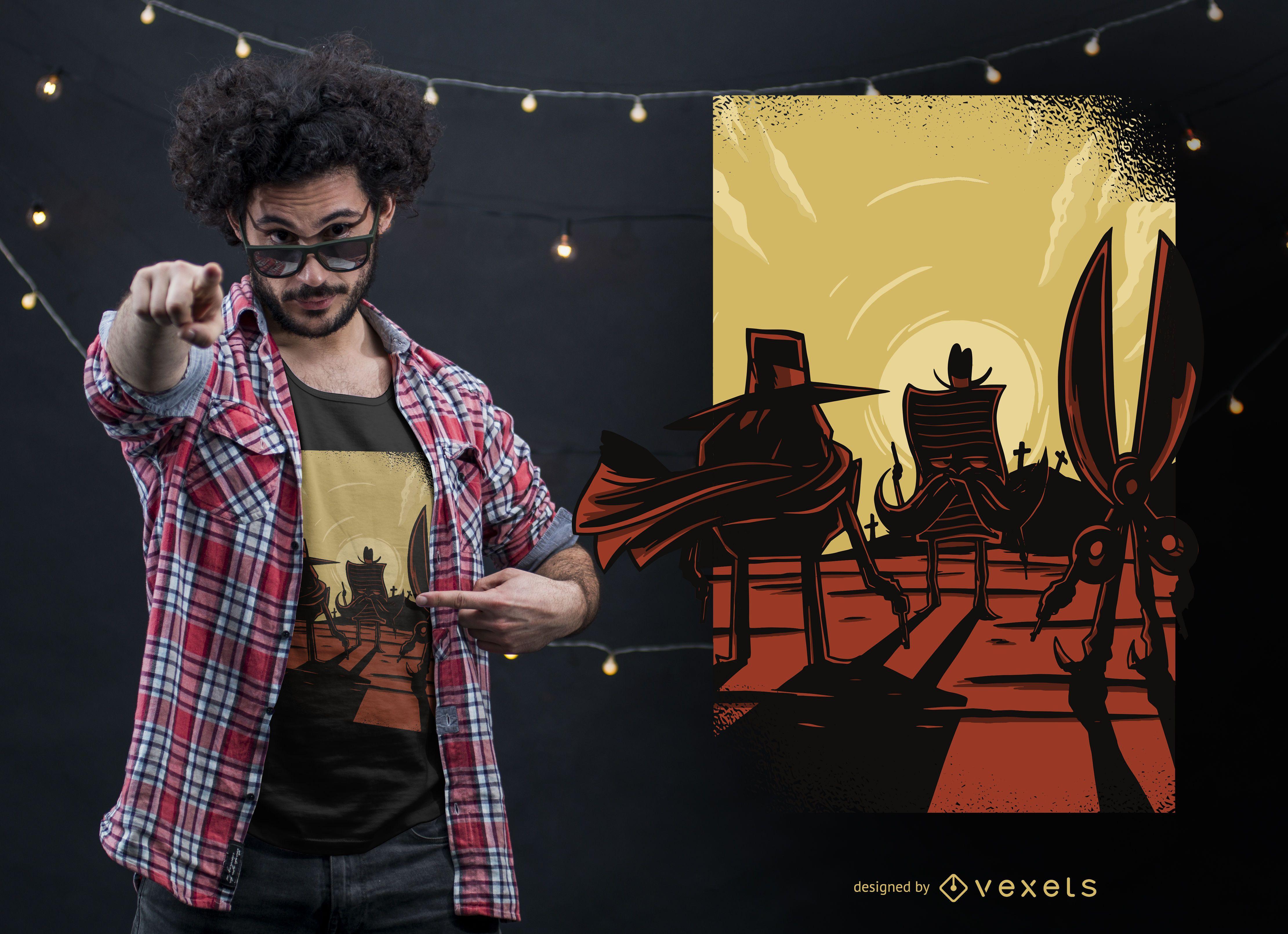 Diseño de camiseta divertida de Rock Papers Scissors