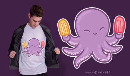 Cute octopus t-shirt design