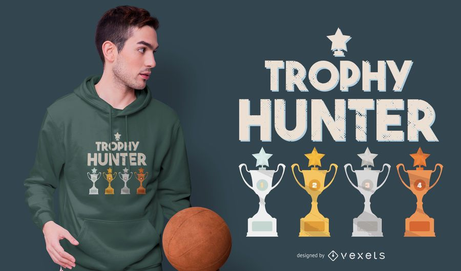 Design de t-shirt de caçador de troféus
