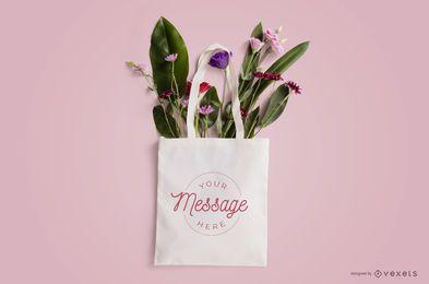 Blumen-Einkaufstaschen-Modellentwurf