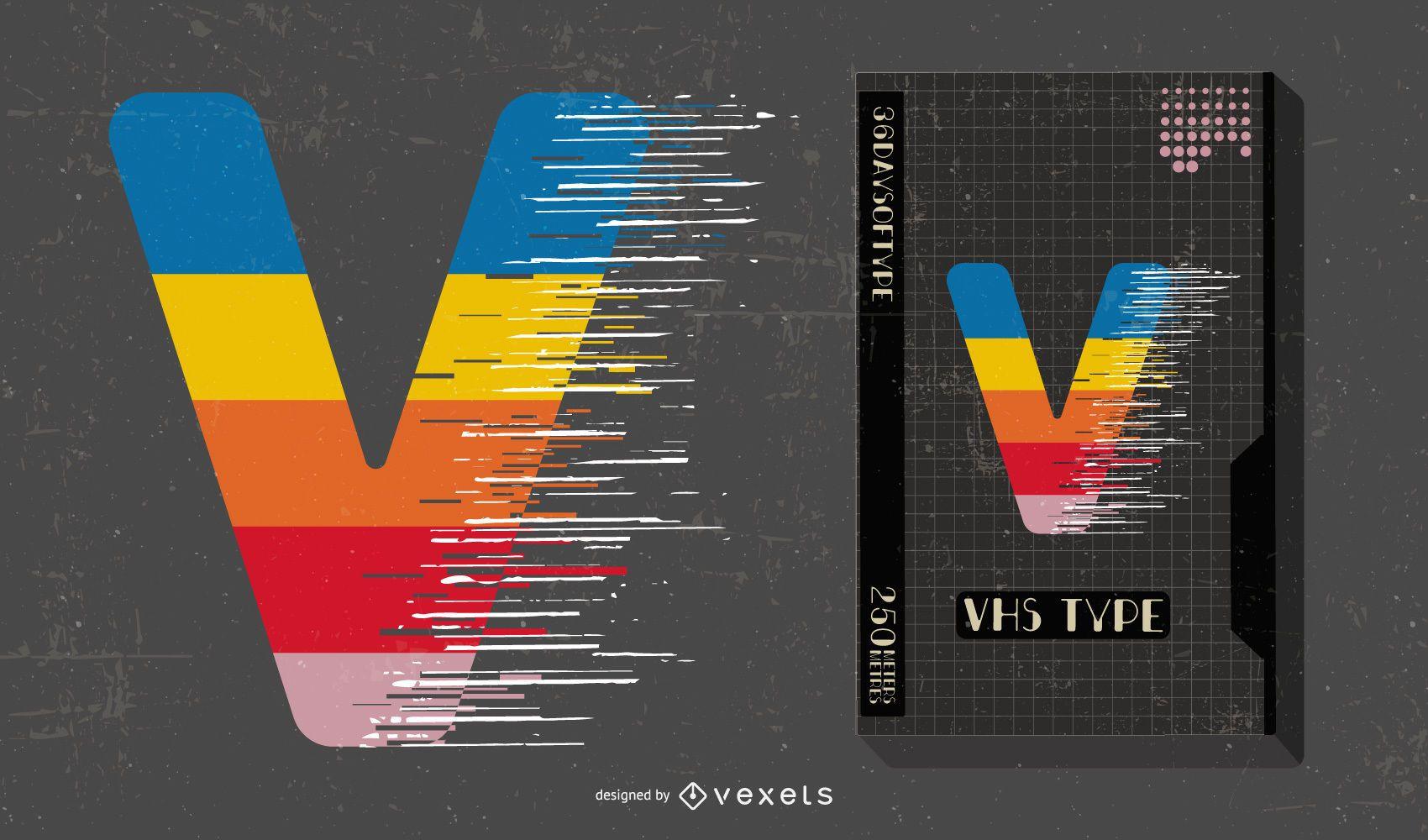 Letra V Conceito Design