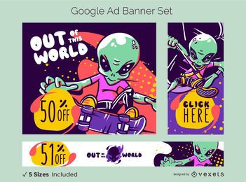 Alien Sale Google Ad Banner Set