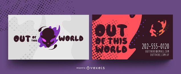 Design de cartão de visita estrangeiro