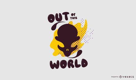 Design de logotipo de espaço alienígena