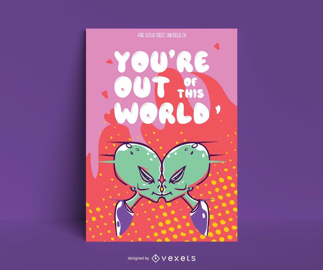 Alien Love Poster Design