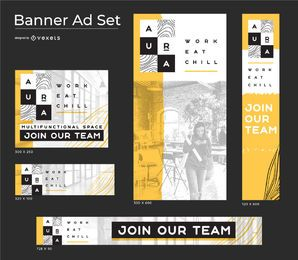 Aura Concept Business Banner set