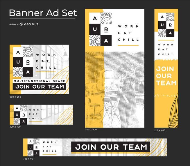 Aura Concept Business Banner set