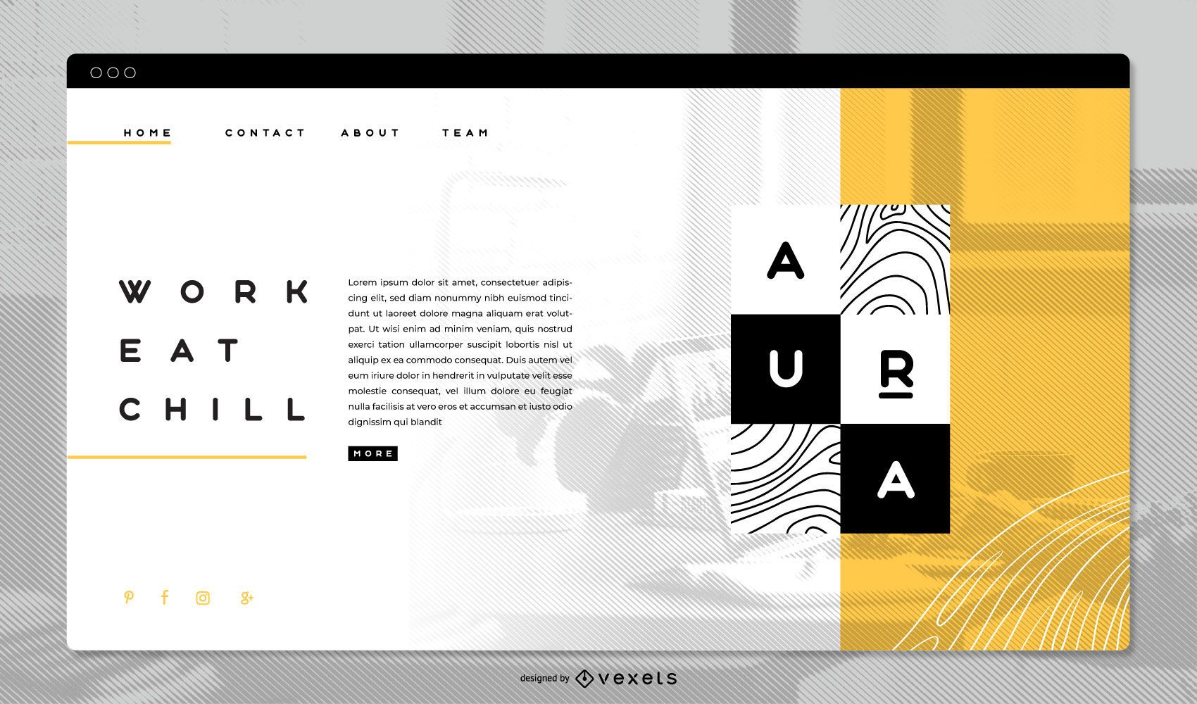 Brand Concept Landing Page Template