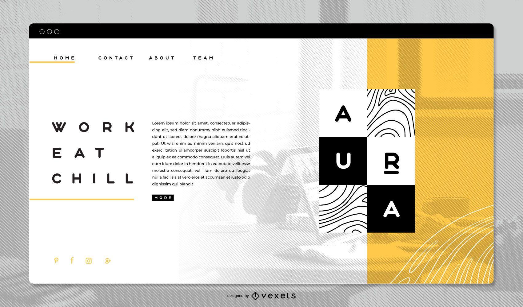 Plantilla de página de destino del concepto de marca