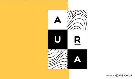 Diseño de logotipo de marca de diseñador
