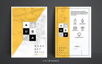Conjunto de diseño de póster de marca de diseñador