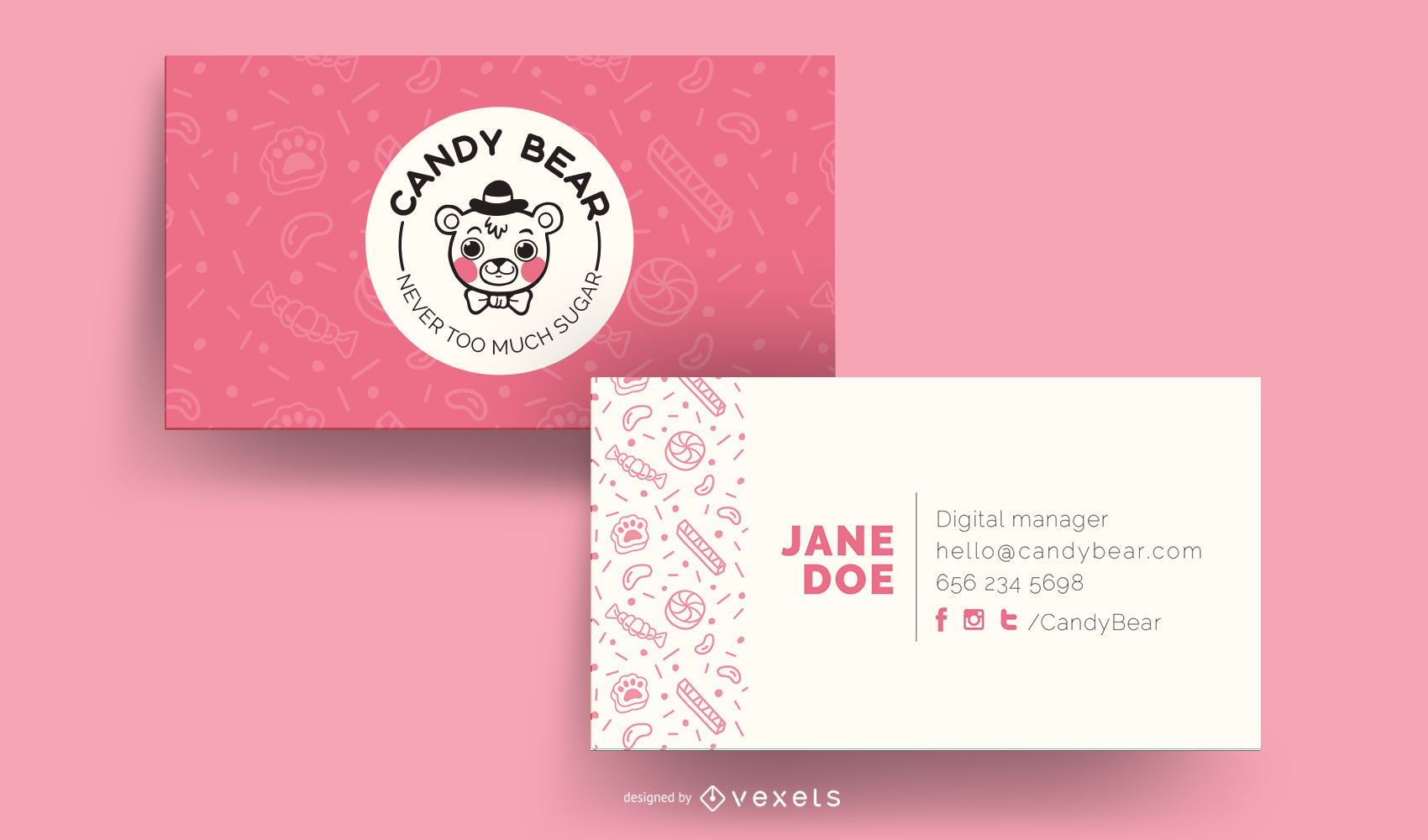 Candy Bear Visitenkartenvorlage