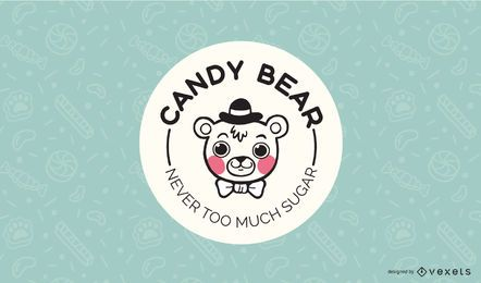 Candy Bear Logo Design Template