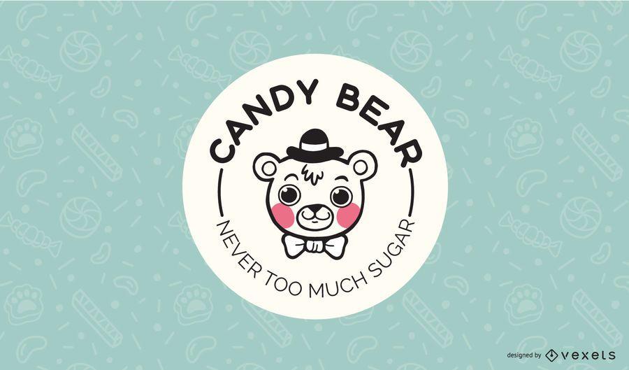 Candy Bear Logo Design Template