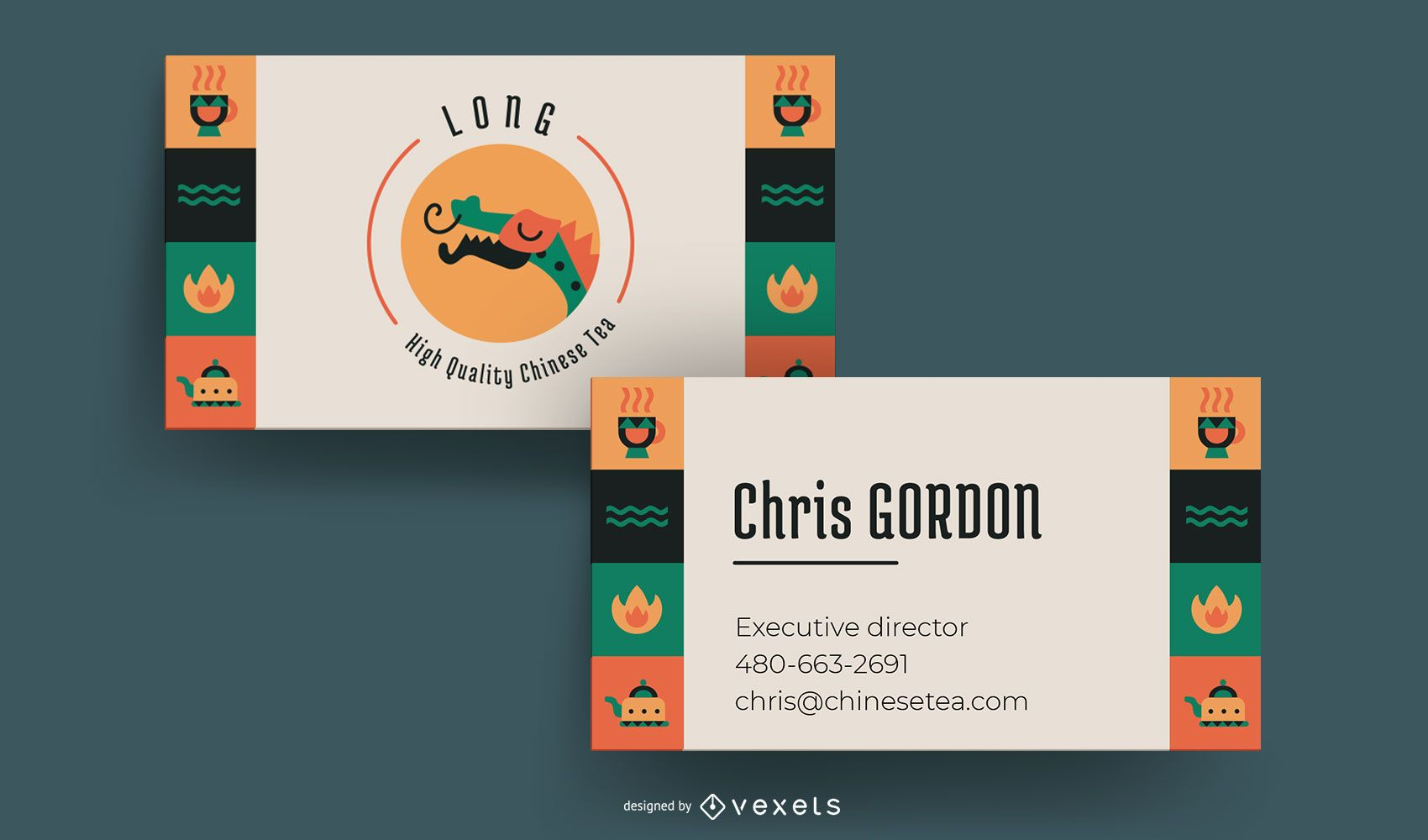 Chinese Tea Business Card Template