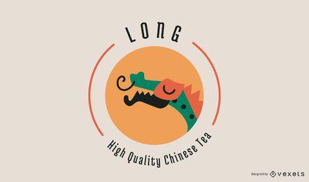 Diseño de logotipo de concepto de té chino