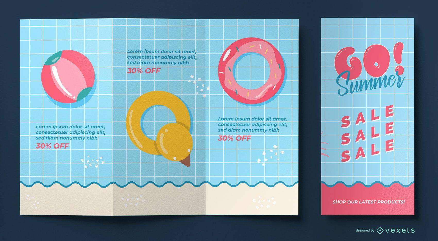 Diseño de folleto informativo de verano