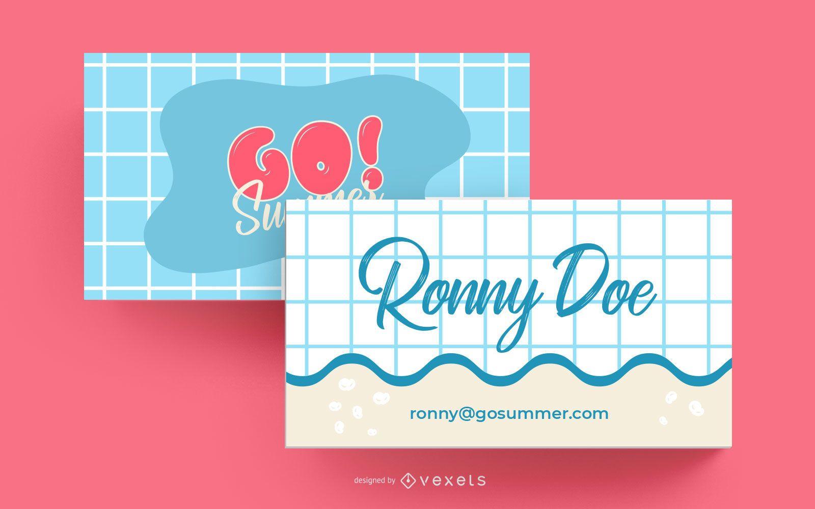 Diseño de tarjeta de visita de verano