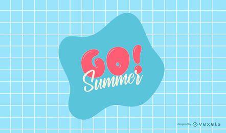 Gehen Sie Sommer Logo Design