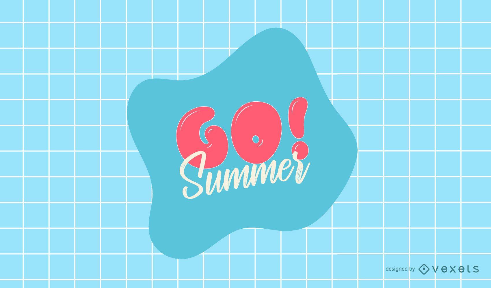 Ir diseño de logotipo de verano