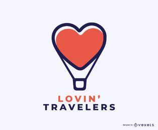 Design de logotipo de conceito de viajantes Lovin
