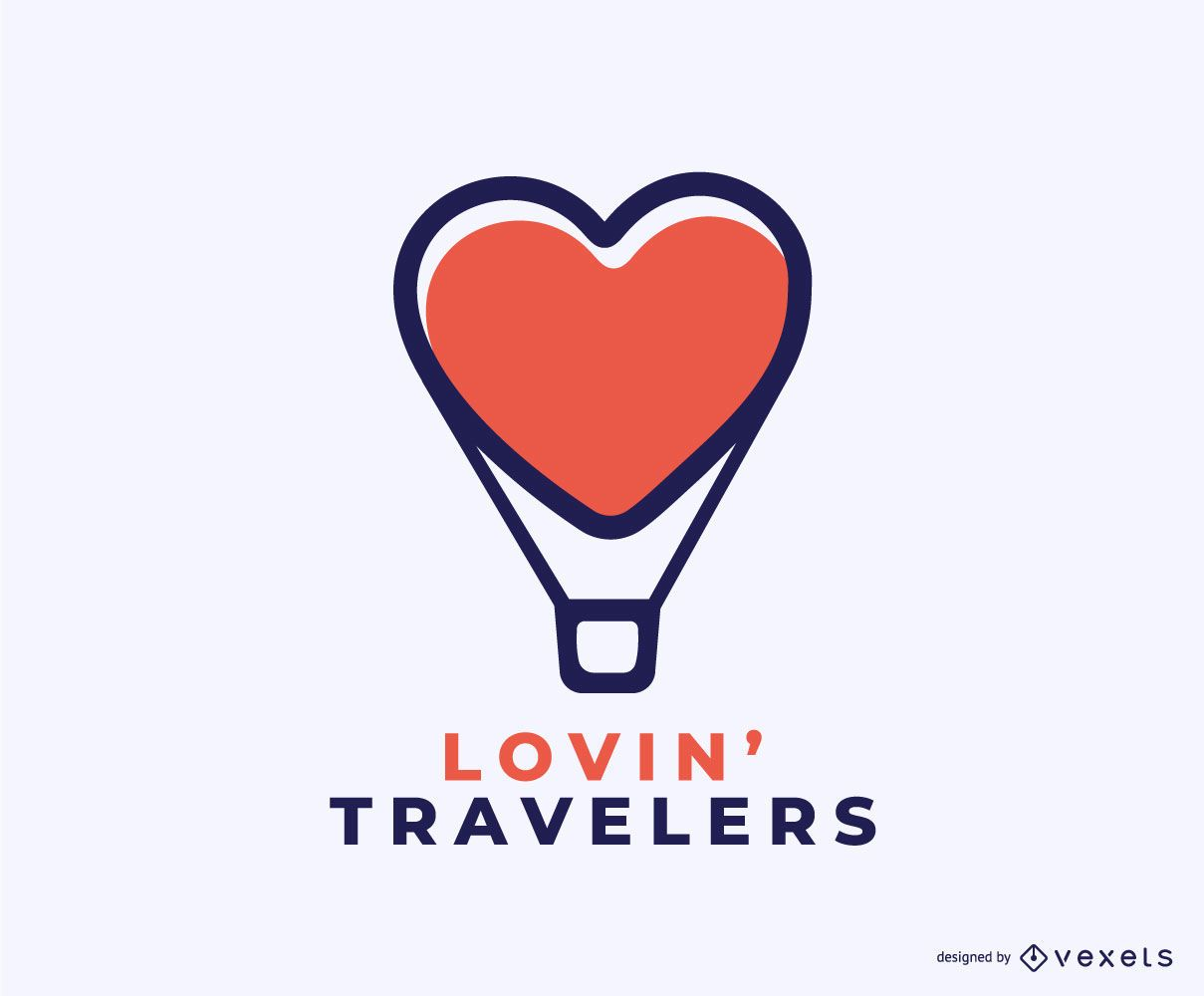 Dise?o de logotipo Lovin Travelers Concept