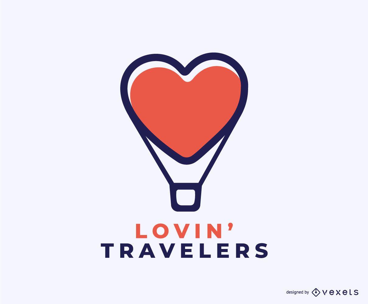 Lovin Travelers Concept Logo Design