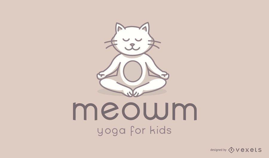 Diseño de logotipo de Cat Kids Yoga Studio
