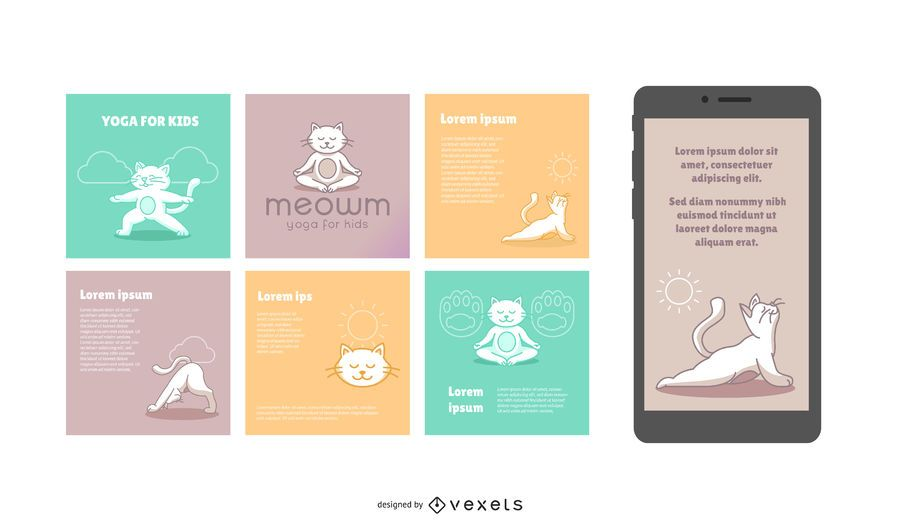 Cat Yoga Studio Social Banner Pack