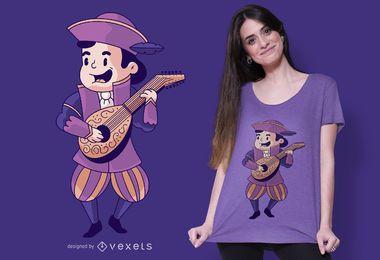 Cute Bard T-shirt Design