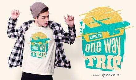 Design de t-shirt de citação de viagem