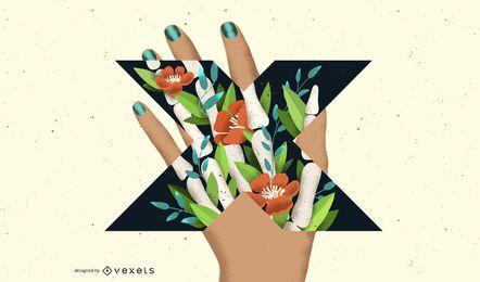 Brief X Röntgen Hand Typografie Design
