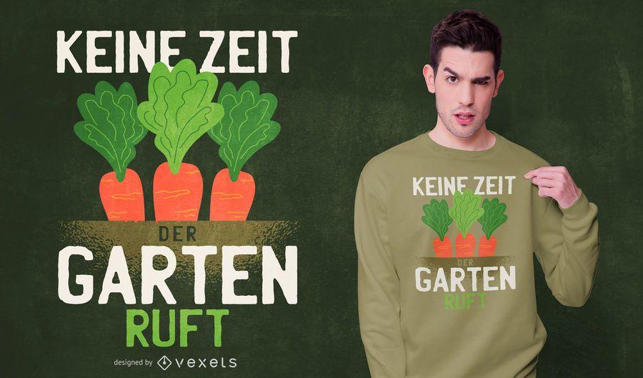 Carrot german quote t-shirt design