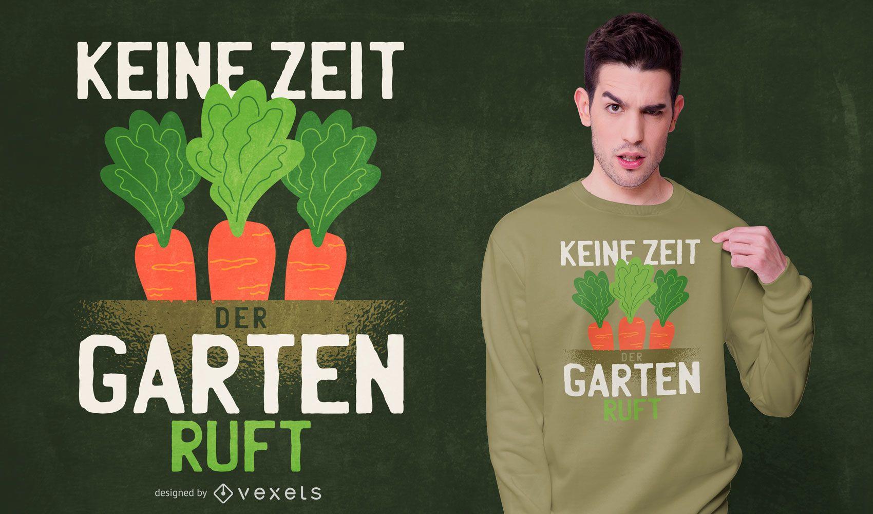 Diseño de camiseta zanahoria cita alemana